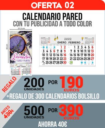 OFERTA 02 calendario pared todo color